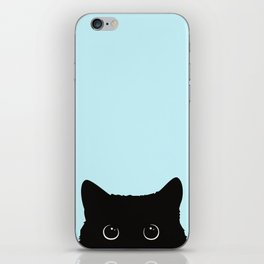 Black cat I iPhone Skin