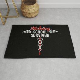 Nursing School Survivor | Medical Hero Rug