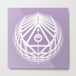 Radiant Abundance (lavender-white) Metal Print