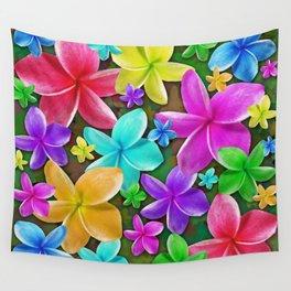 Plumerias Flowers Dream Wall Tapestry