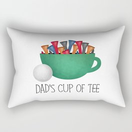 Dad's Cup Of Tee Rectangular Pillow