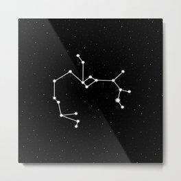 Sagittarius Star Sign Night Sky Metal Print