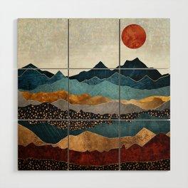 Amber Dusk Wood Wall Art