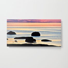 Painted Seas at Dusk Metal Print