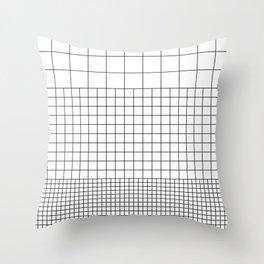 3 Grids Throw Pillow