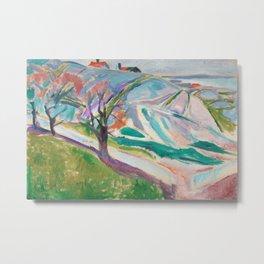 Edvard Munch - Landscape of Kragerø Metal Print