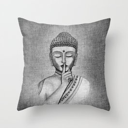 Shh... Do not disturb - Buddha Throw Pillow