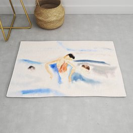 Three Figures in Water - Digital Remastered Edition Rug