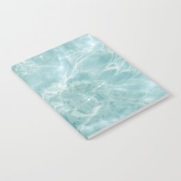 Clear blue water | Colorful ocean photography print | Turquoise sea Notebook