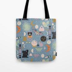 Lunar Pattern: Blue Moon Tote Bag