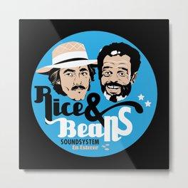 Rice & Beans Sound Poster Metal Print