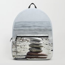 Balancing Stones On The Beach Backpack