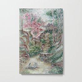 Old hanok (Watercolor painting) Metal Print