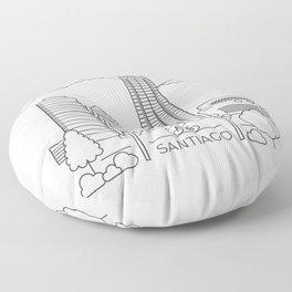 Skyline Santiago de Chile Floor Pillow