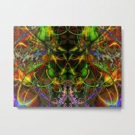 Colorful Aliens Rich Figures Fractal Metal Print