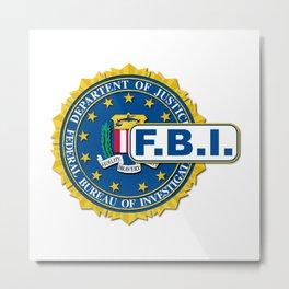 FBI Seal Mockup Metal Print