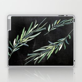 Eucalyptus leaves on chalkboard Laptop & iPad Skin