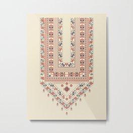 Palestinian traditional embroidery motif Metal Print