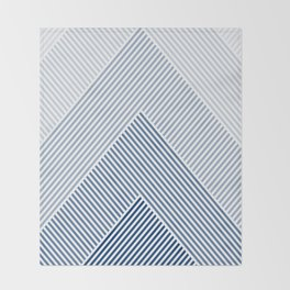 Shades of Blue Abstract geometric pattern Throw Blanket