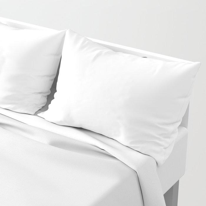 White Minimalist Solid Color Block Kissenbezug