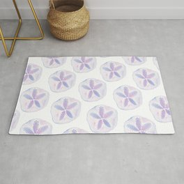 Mermaid Currency - Purple Sand Dollar Rug
