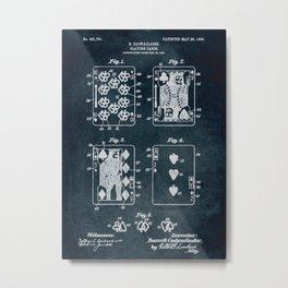 1904 - Playing cards patent art Metal Print