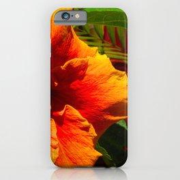 Glorious Papaya Red & Mango Orange Hibiscus Flower iPhone Case