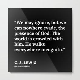 52    | 191121 | C. S. Lewis Quotes Metal Print