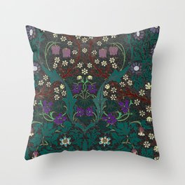 Blackthorn - William Morris Throw Pillow