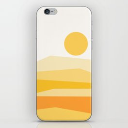 Abstract Landscape 09 Yellow iPhone Skin