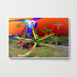 Attack of the Space Demons 2nd Wave Metal Print