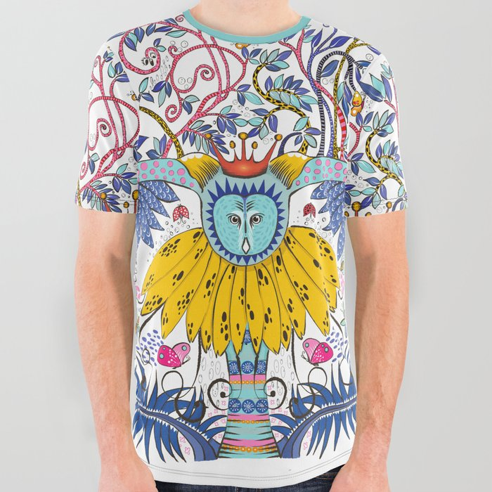 Owl Kingdom in white All Over Graphic Tee