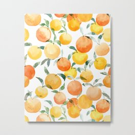 Orange Groove Metal Print