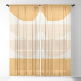Abstract Shapes 36 Sheer Curtain