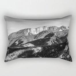 Black and White Mountains Landscape Rectangular Pillow