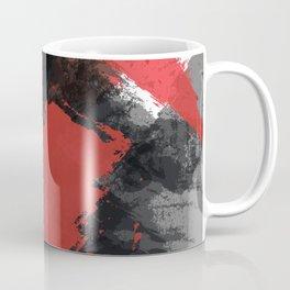 Red and Black Paint Splash Kaffeebecher