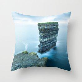 Dún Briste Throw Pillow