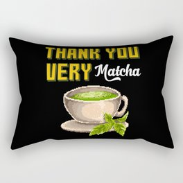 Matcha Tea Green Tea Rectangular Pillow