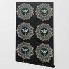 Lunar Moth Mandala with Background Wallpaper