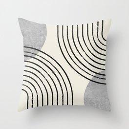 Sun Arch Double - Grey Throw Pillow