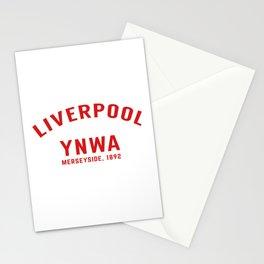Liverpool tshirt | You'll Never Walk Alone | YNWA shirt | Premier league team Stationery Cards