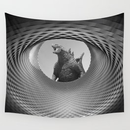 Architectural Gojira Wall Tapestry