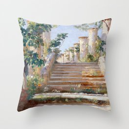 Peder Severin Krøyer Loggia in Ravello Throw Pillow