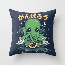 Good Luck Cthulhu Throw Pillow