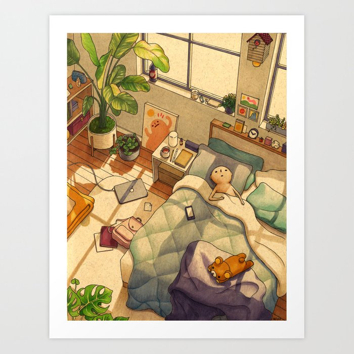 Afternoon Nap Kunstdrucke