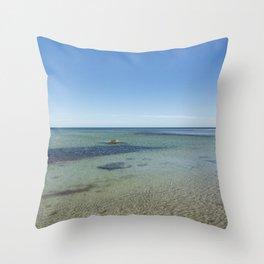 Shallow Waters At Danish Bornholm Island Throw Pillow