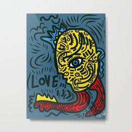 Punk Love Street Art Graffiti by Emmanuel Signorino Metal Print