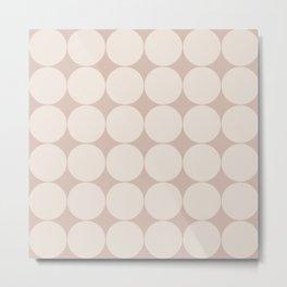 Circular Minimalism - Warm Neutral Metal Print