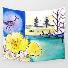 MICMAC Indian Legend, CANADA          by Kay Lipton Wall Tapestry