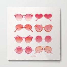 Sunglasses Collection – Pink Ombré Palette Metal Print